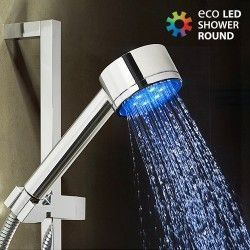 Ducha con Luz Redonda Eco Led Shower